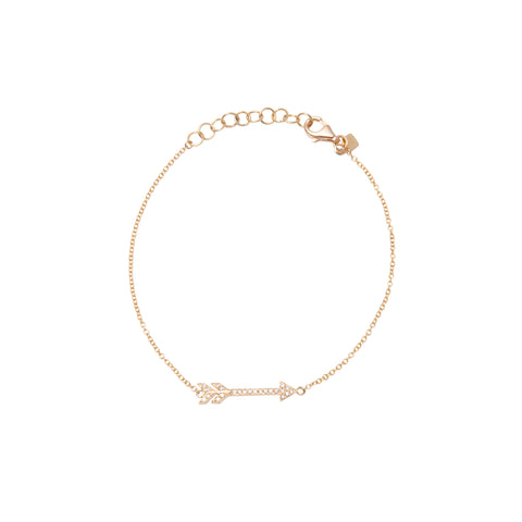 14k gold diamond arrow bracelet