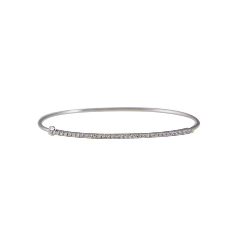 14k gold large diamond bangle with closure