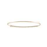 14k gold bar bangle with closure