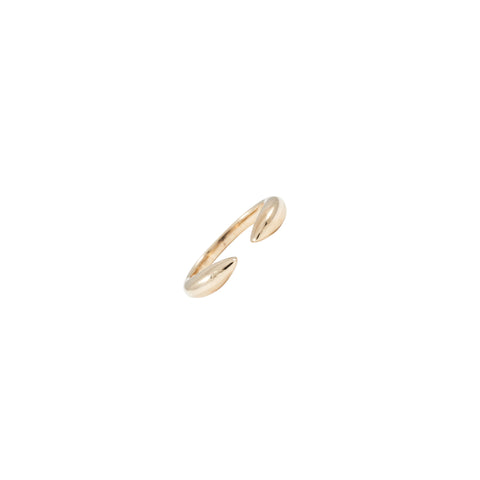 14k gold bubble open claw ring