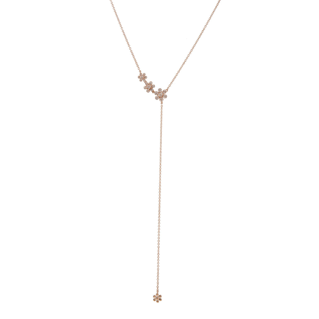 14k gold diamond daisy lariat