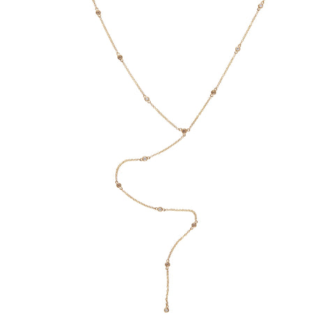 14k gold diamond by the yard lariat