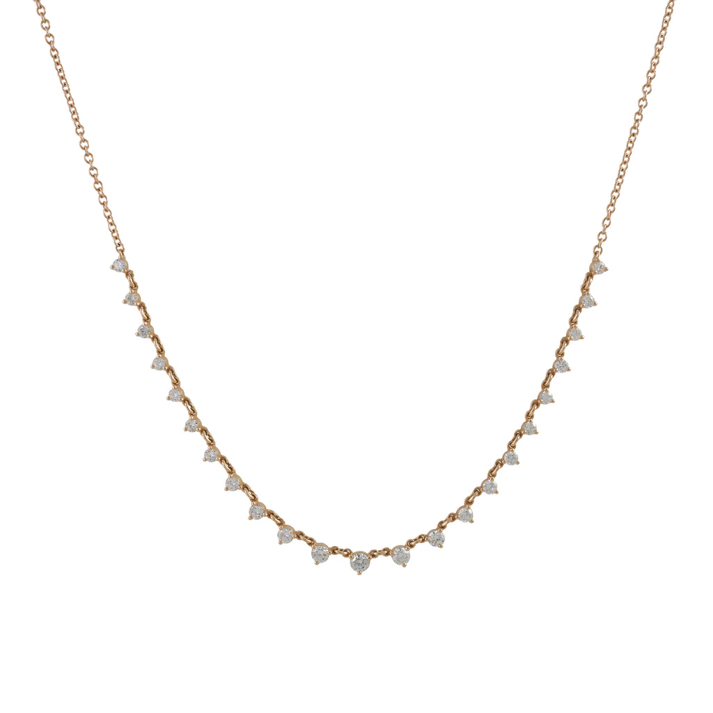 14k gold diamond choker
