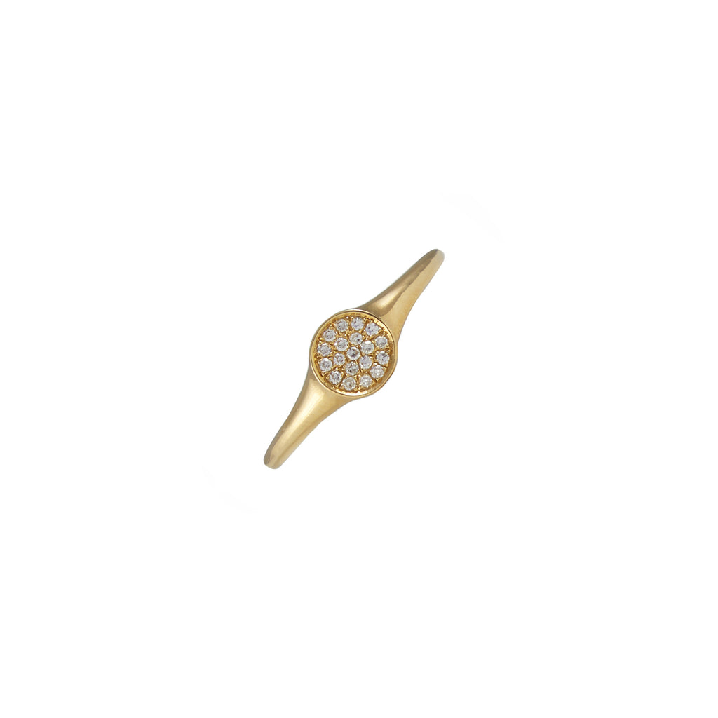 14k gold diamond disk band