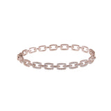 14k gold diamond link bangle
