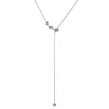 14k gold diamond baguette lariat