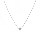 14k gold diamond bitty bubble heart necklace