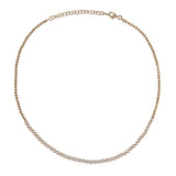14k gold bezel set disappearing diamond soft adjustable choker