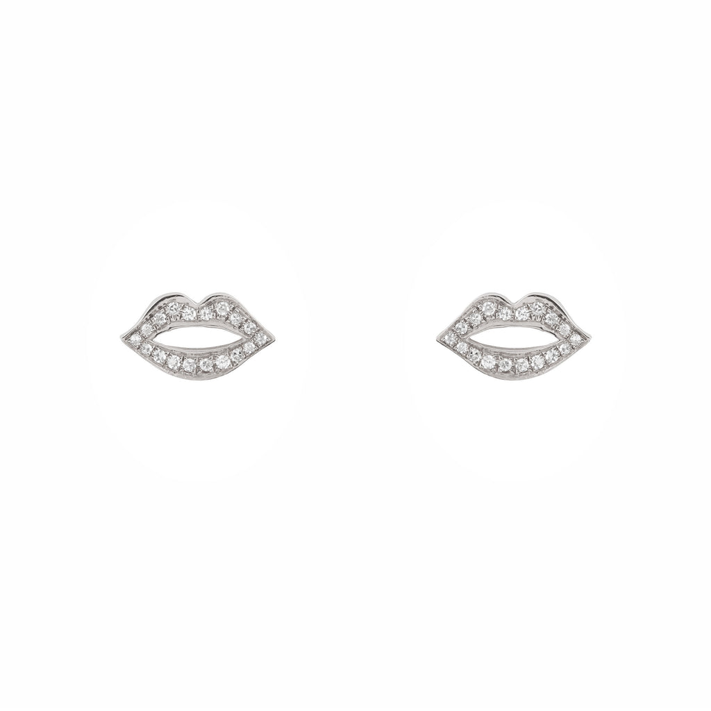 14k gold diamond lip studs