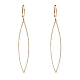 14k gold diamond elongated drops