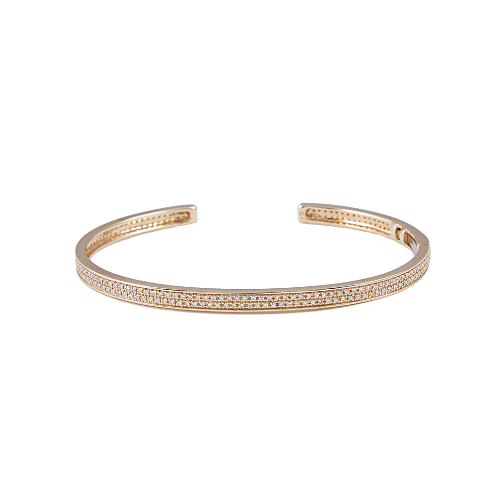 14k gold diamond hinge bracelet