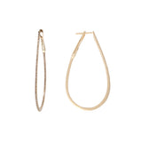 14k Yellow Gold 2'' Diamond Horseshoe Hoops