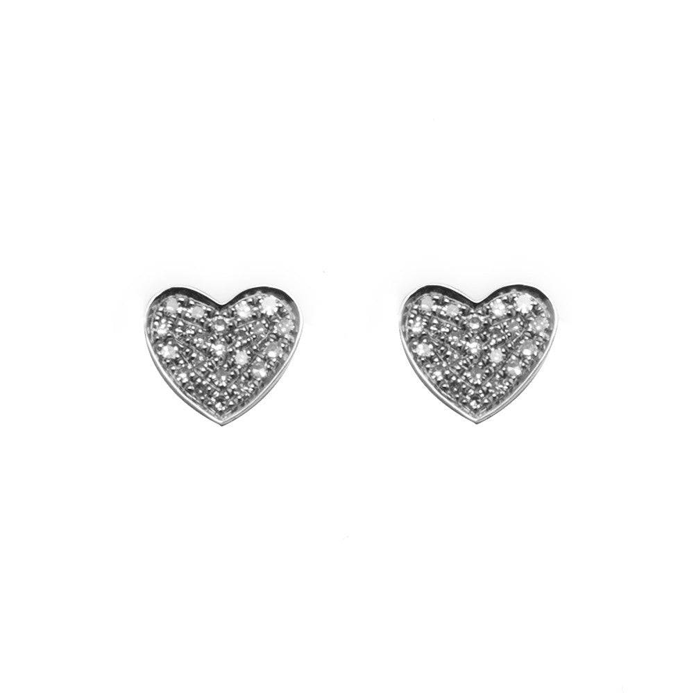 14k gold diamond heart posts
