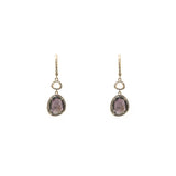 14k gold labradorite and topaz diamond drop earrings