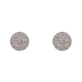 14k gold and diamond large flat disk earrings