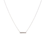 14k gold diamond small bar necklace