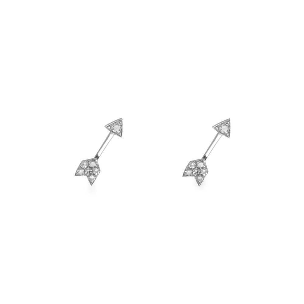 14k gold mini diamond arrow posts