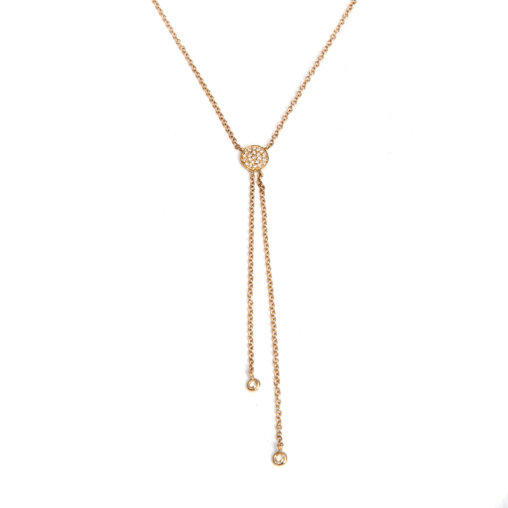 14k small disc lariat