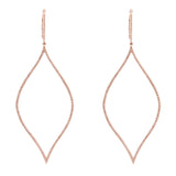 14k gold and diamond organic teardrop earrings