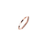 14k gold diamond pointed bar ring
