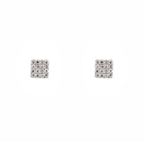 14k gold diamond square studs