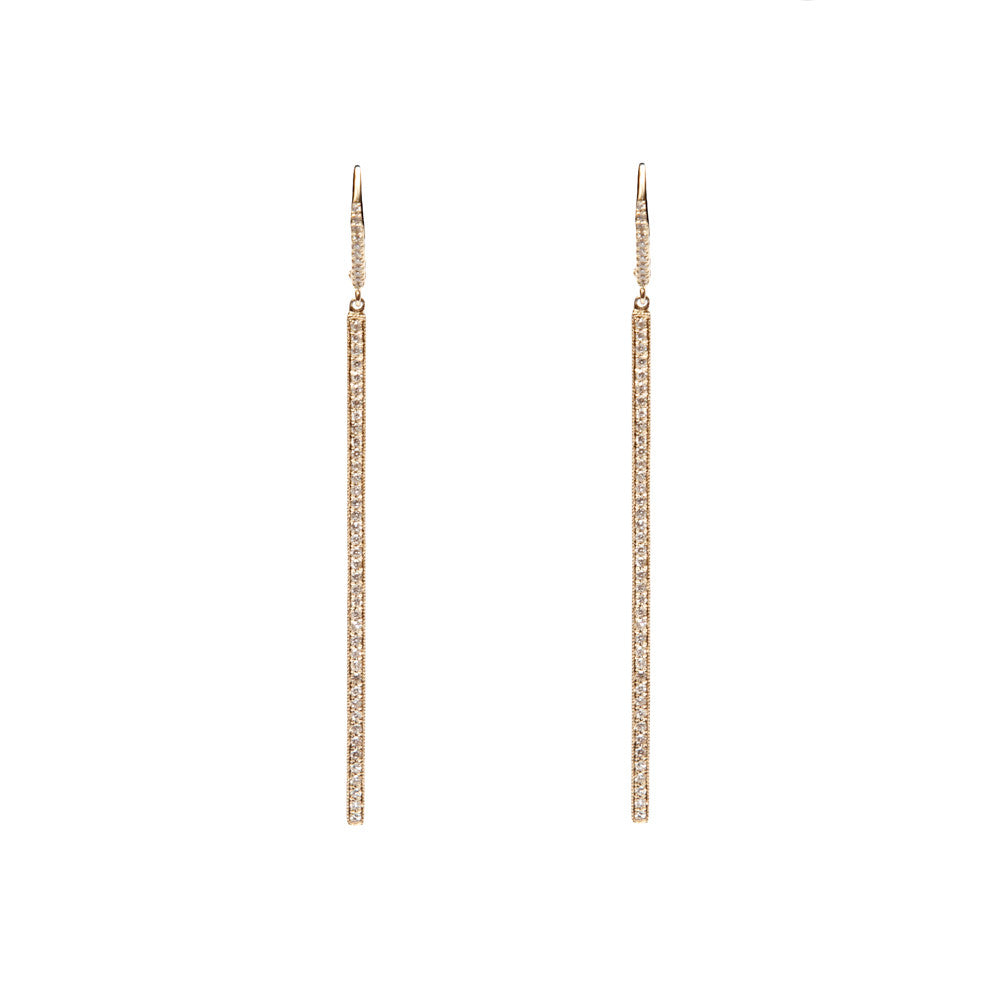 14k gold diamond stick drops