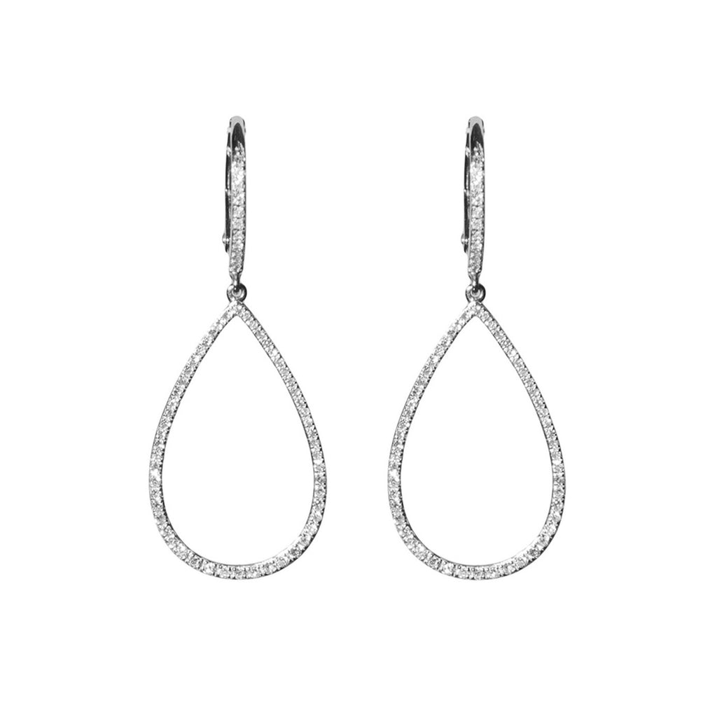 14k gold small teardrop hoops