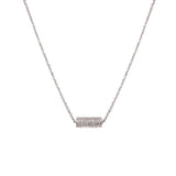 14k gold diamond barrel necklace