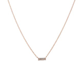14k gold white topaz and diamond necklace