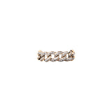 14k gold diamond chain link ring
