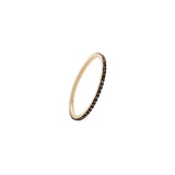 14k gold champagne diamond eternity band