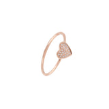 14k gold diamond heart ring