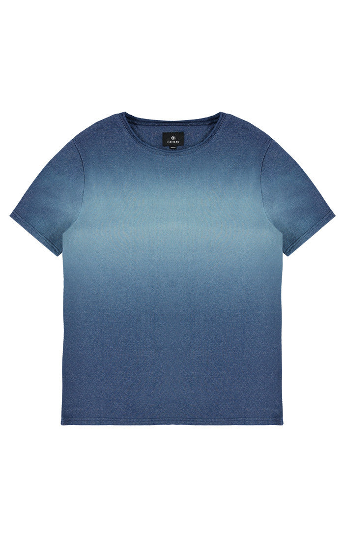 CRU - RAW SILK T-SHIRT - ESTATE BLUE