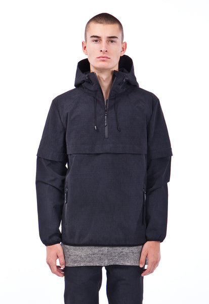ELLIS - ANORAK - BLACK