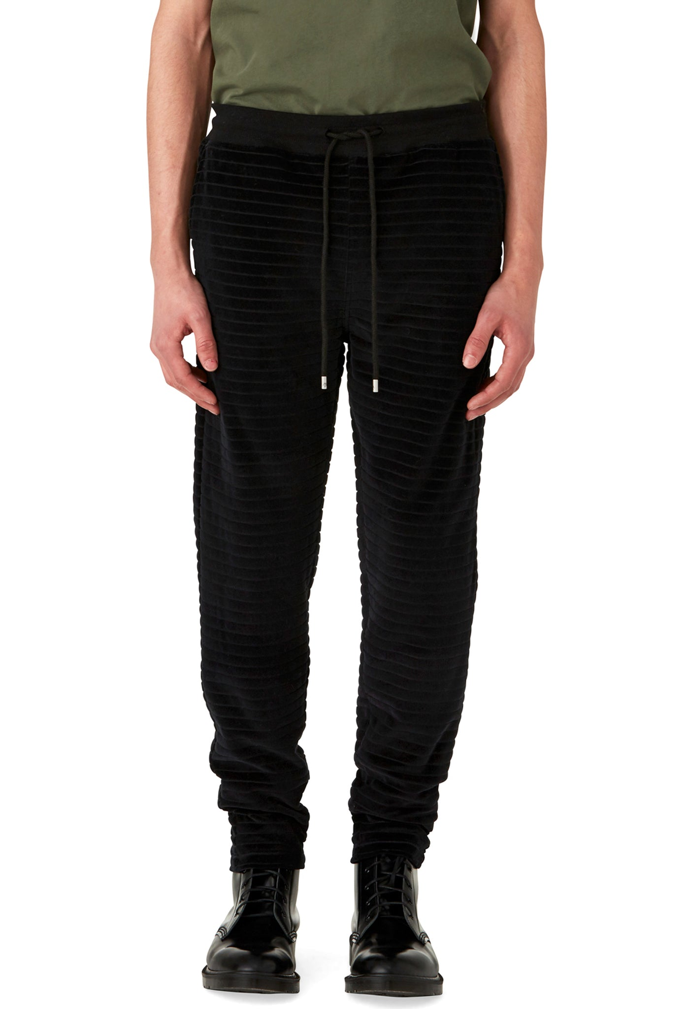 HYDE - VELOUR JOGGER - BLACK