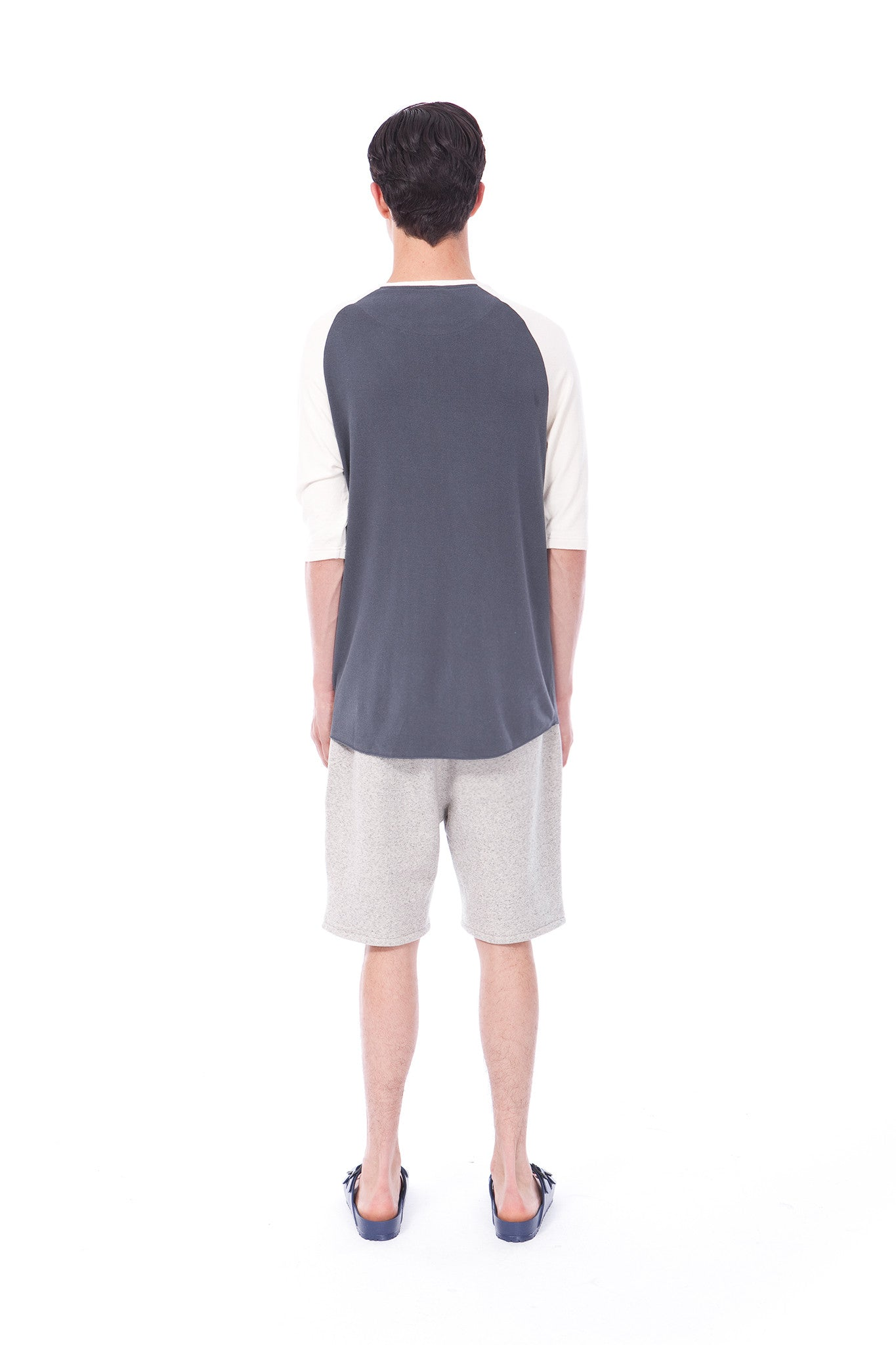 SIMONE - RAW SILK T-SHIRT - OMBRE BLUE