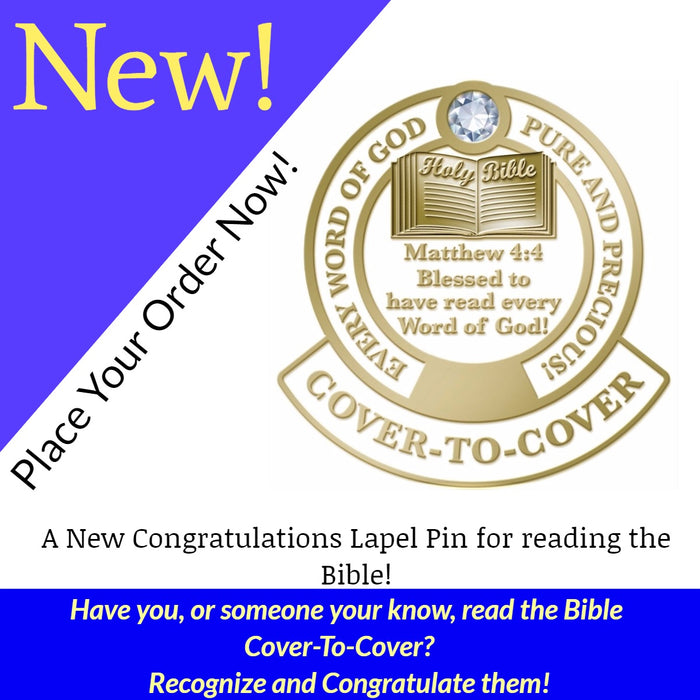 What is New At Love The Lord! Inc - Our Cover-to-Cover Pin
