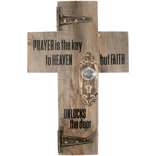 Prayer Is The Key...Faith Unlocks The Door - Cross - Love the Lord Inc