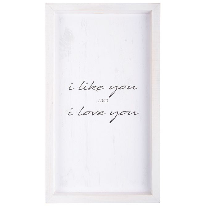 Wall Art - I Like You...I Love You - Love the Lord Inc