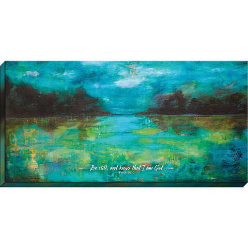 """Be Still and Know that I Am God""- Canvas Print - Love the Lord Inc"