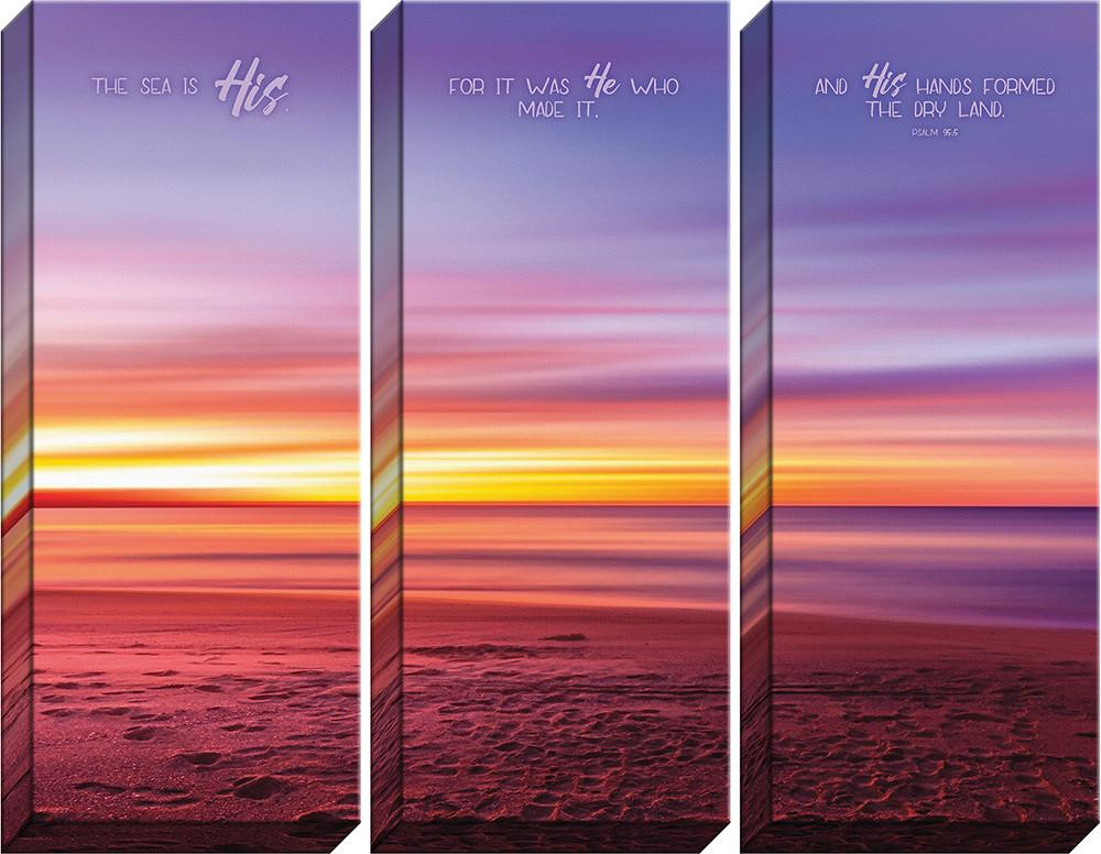Three Piece Canvas Set - He Made It - Love the Lord Inc