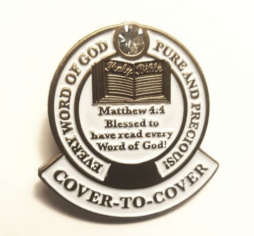 Congrats Reading the Bible Cover-To-Cover Lapel Pin - Love the Lord Inc