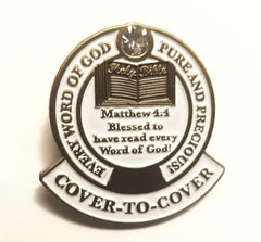 Cover-To-Cover Lapel Pin