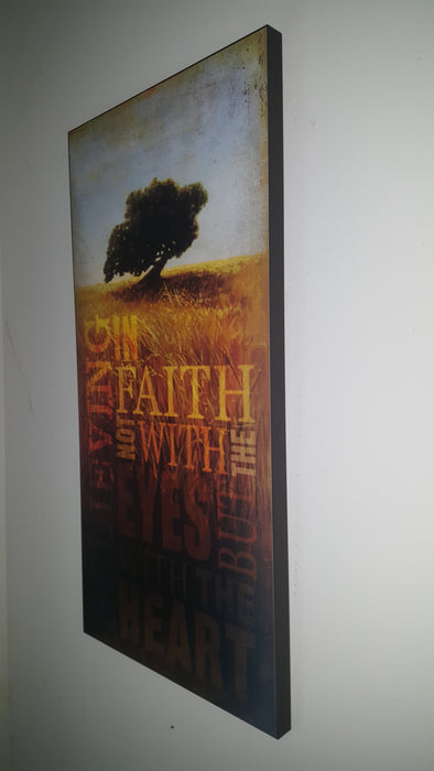 Wall Art - Faith Is Believing With The Heart - Love the Lord Inc