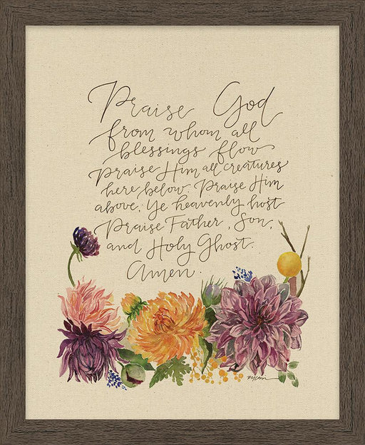 Praise God Doxology - Framed Canvas - Love the Lord Inc