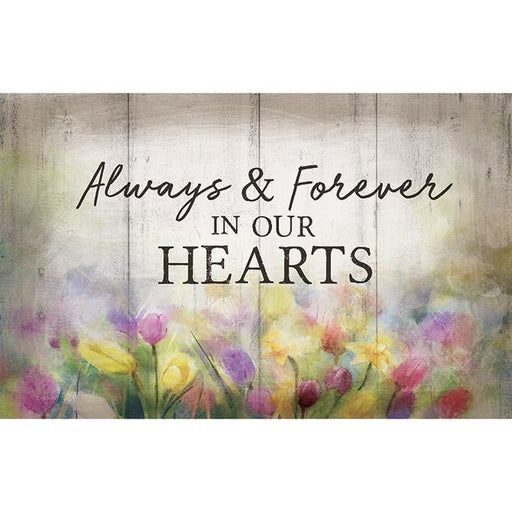 Sign Insert - Always In Our Hearts - Love the Lord Inc
