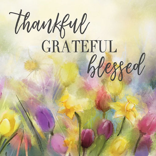 Kitchen Trivet - Thankful, Grateful, Blessed - Love the Lord Inc