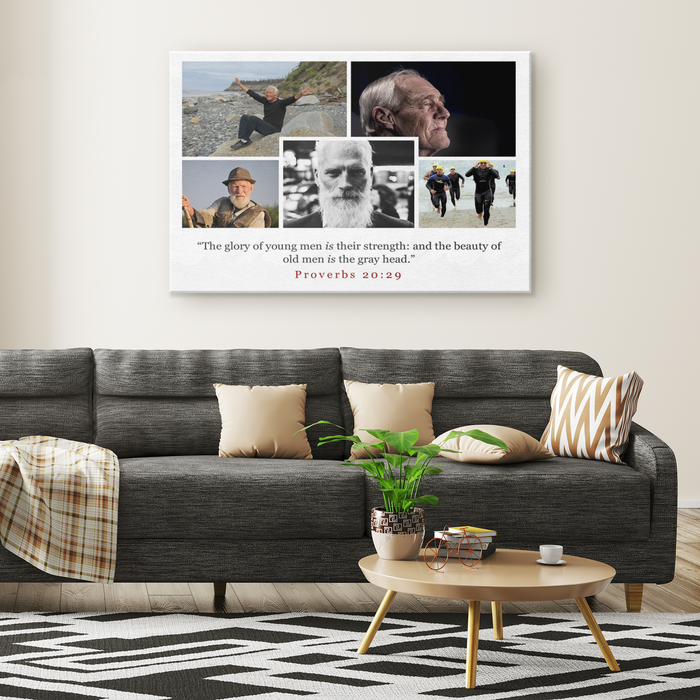 Canvas Print - Glory and The Beauty of Grey - Love the Lord Inc