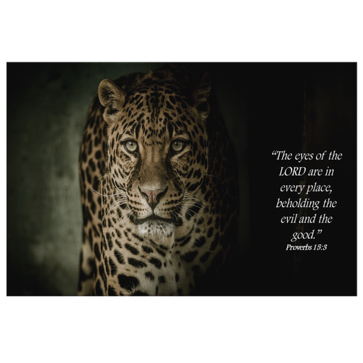 Canvas Print - The Eyes of the Lord (Leopard) - Love the Lord Inc