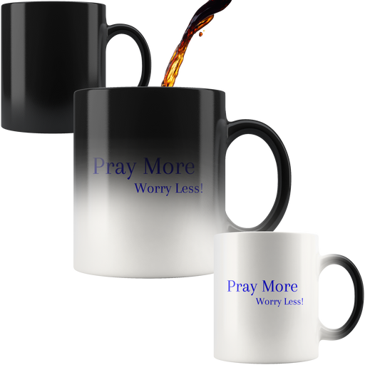 Pray More Worry Less - 11oz Mug (Darkness to Light) - Love the Lord Inc